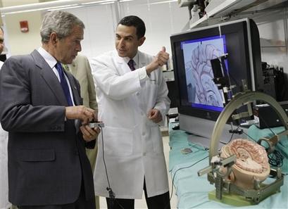 Bush talks to his doctor