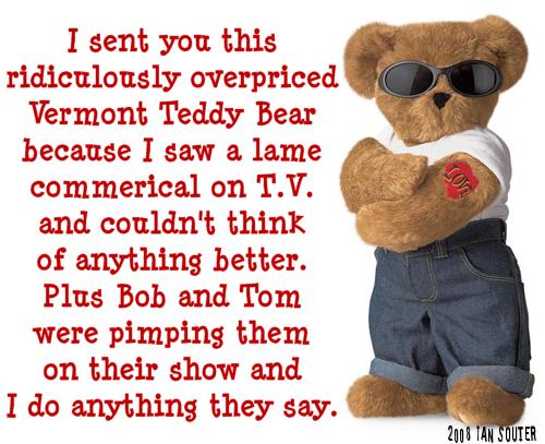 vermont fucking teddy bear